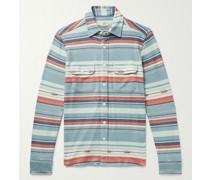 Legend Striped Brushed Stretch-Flannel Shirt