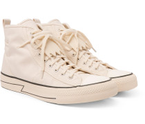 Skagway Fringed Canvas High-top Sneakers