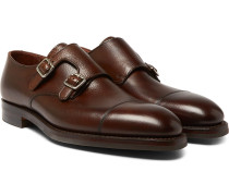 Thomas Pebble-grain Leather Monk-strap Shoes