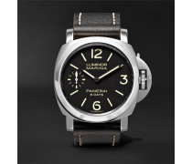 Luminor Marina 8 Days Acciaio 44mm Stainless Steel And Leather Watch