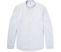 Samuel Slim-fit Grandad-collar Cotton Oxford Shirt