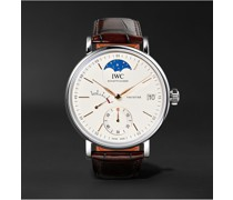 Portofino Hand-Wound Moon Phase 45mm Stainless Steel and Alligator Watch, Ref. No. IW516401