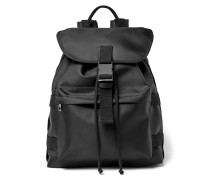 Sylvain Canvas-trimmed Shell Backpack