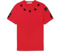 Cuban-fit Appliquéd Cotton-jersey T-shirt