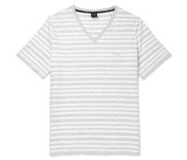 Striped Stretch-cotton T-shirt