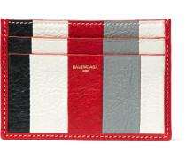 Bazar Striped Textured-leather Cardholder