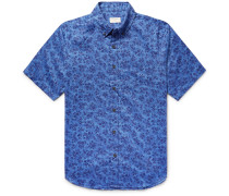 Slim-fit Button-down Collar Cotton Shirt