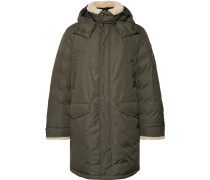 Shearling-trimmed Shell Down Parka