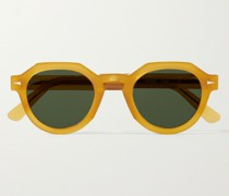 Grenelle Round-Frame Tortoiseshell Acetate Sunglasses