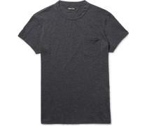 Slim-fit Mélange Cotton And Cashmere-blend T-shirt