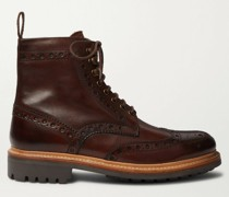Fred Burnished-Leather Brogue Boots