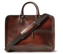 Deux Jours Polished-leather Briefcase