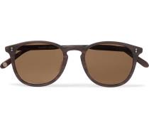 Kinney 49 Round-frame Tortoiseshell Matte-acetate Polarised Sunglasses