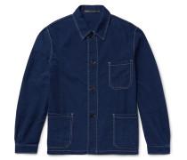Textured-denim Jacket