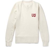 Slim-fit Appliquéd Loopback Cotton-blend Jersey Sweatshirt