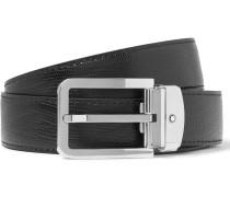 3cm Textured-leather Belt