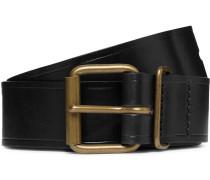 Fred 4cm Black Leather Belt