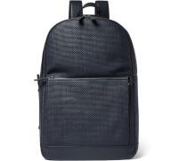 Pelle Tessuta Leather Backpack