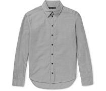 Slim-fit Distressed Cotton Shirt