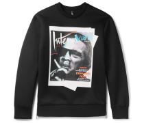 Jay De Niro Printed Scuba-jersey Sweatshirt