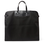 Nightflight Leather-trimmed Nylon Garment Bag