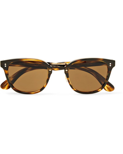 Lerner D-frame Tortoiseshell Acetate And Gold-tone Sunglasses