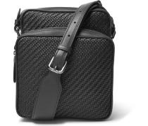 Pelle Tessuta Leather Messenger Bag