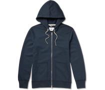 Core Slim-fit Loopback Cotton-jersey Zip-up Hoodie