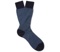 Seymour Striped Cotton-blend Socks