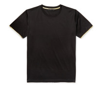 Nasan Contrast-tipped Mercerised Cotton-jersey T-shirt