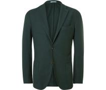 Green Slim-fit Cotton Blazer