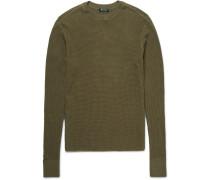 T By Alexander Wang Waffle-knit Cotton Sweater