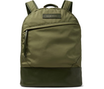 Kastrup Leather-trimmed Nylon Backpack