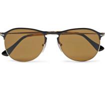 Aviator-style Metal Polarised Sunglasses