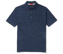 Slim-fit Herringbone Cotton Polo Shirt