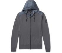 Aldlington Shell-trimmed Virgin Wool Zip-up Hoodie