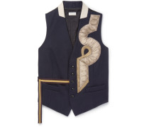 Appliquéd Wool Waistcoat