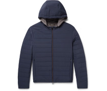 Quilted Rain System Shell Hooded Jacket