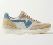 FKT Runner Suede-Trimmed Nylon and Cotton-Blend Sneakers