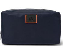 Leather-trimmed Nylon Wash Bag