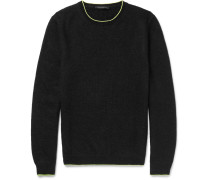Slim-fit Neon-tipped Knitted Sweater
