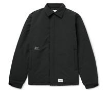 Stock Man Logo-Print Appliquéd Padded Shell Jacket