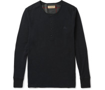 London Ribbed Cotton And Wool-blend Henley T-shirt