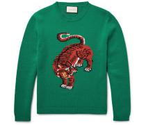 Tiger-intarsia Wool Sweater