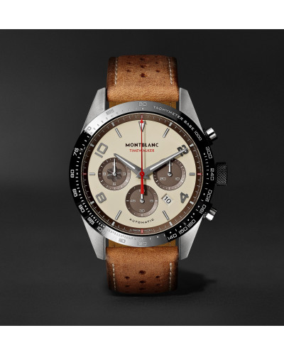TimeWalker Limited Edition Chronograph 43mm Stainless Steel, Ceramic and Leather Watch, Ref. No. 118491