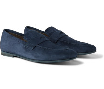 Chiltern Suede Penny Loafers