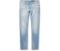 Slim-fit Faded Washed Stretch-denim Jeans