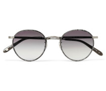 Wilson 49 Round-frame Acetate And Gunmetal-tone Sunglasses