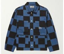 Checked Cotton-Twill Chore Jacket