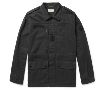 Cotton And Ramie-blend Twill Parka